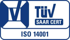 TÜV Zertifikat ISO 14001